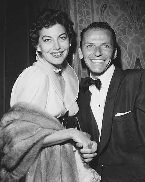 Ava Gardner attends Frank-Sinatra's opening at the Cocoanut Grove 1952 (Photo by Mel Traxel)