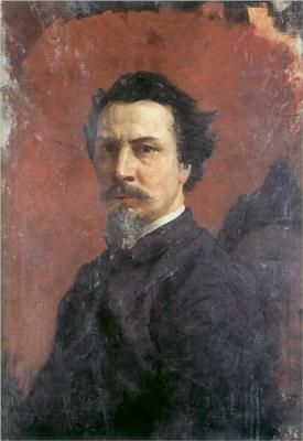 Henryk Siemiradzki - self portrait. 19th century Polish artist. He painted biblical scenes, landscapes, and portraits.