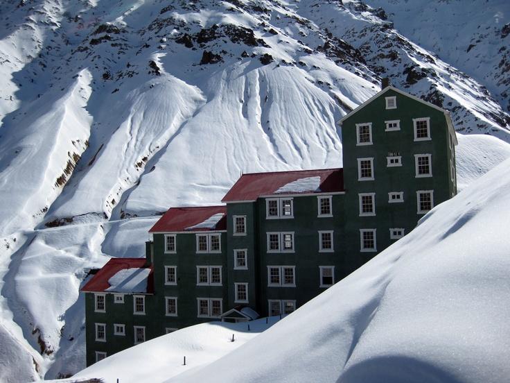 Campamento minero Sewell, VI región, Chile.