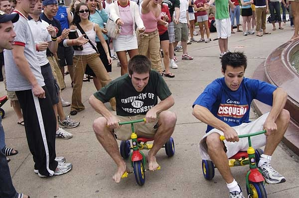 Tricycle race...oh yes, the high school kids will LOVE this