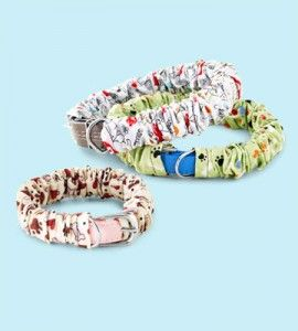 Fabric cover for your dog's collar.