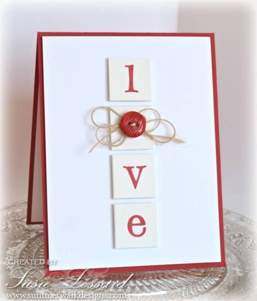Love --Button card. Maybe with the word Noel? or Joy?: Simple Valentines Cards, Christmas Cards, Cards Ideas, Cas Cards, Handmade Valentines Cards, Valentines Day, Cards Valentines, Words Noel, Buttons Cards