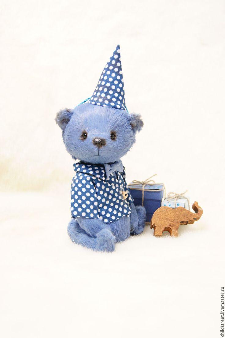 Купить Мишутка))) мишка Тедди - синий, мишка, мишка тедди, мишка ручной работы