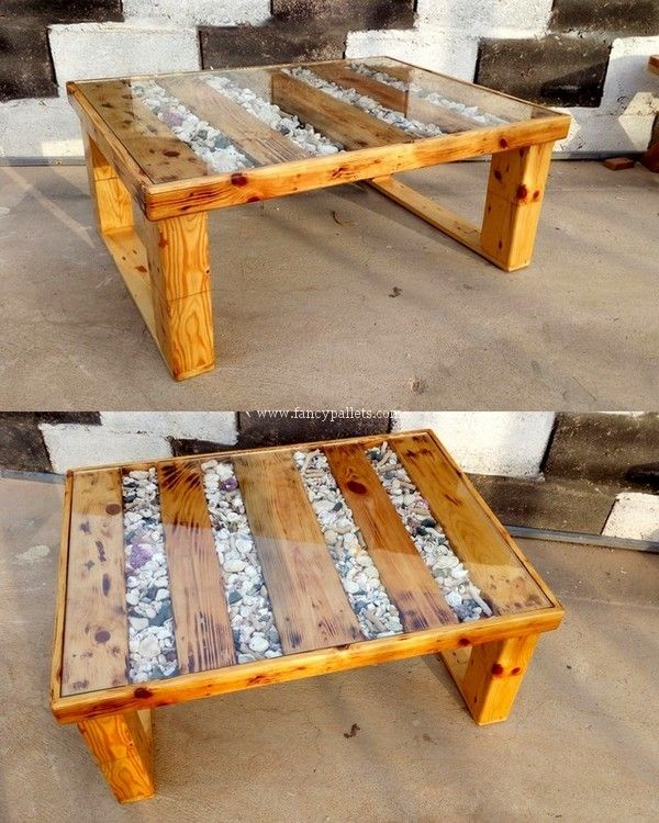 Excellent Diy Wooden Pallets Coffee Table Plan