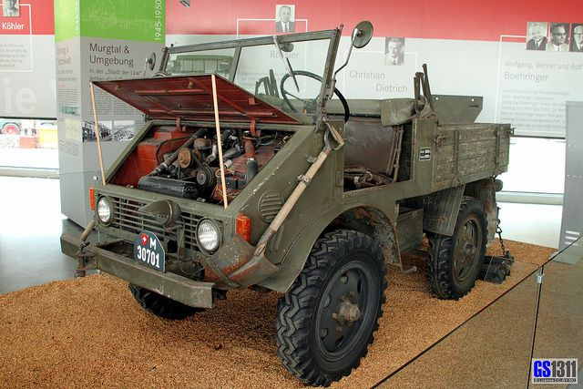 """1949 - 1950 Mercedes-Benz Unimog 70200- Unimog is a range of multi-purpose auto four wheel drive medium trucks produced by Mercedes-Benz, a division of Daimler AG. The name Unimog is pronounced [ˈuːnɪmɔk] in German and is an acronym for the German """"UNIversal-MOtor-Gerät"""","""