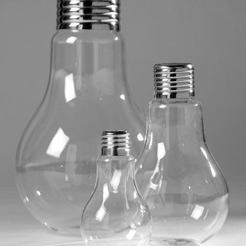 Vase en verre transparent et métal forme ampoule Bulb Serax : Decoclico