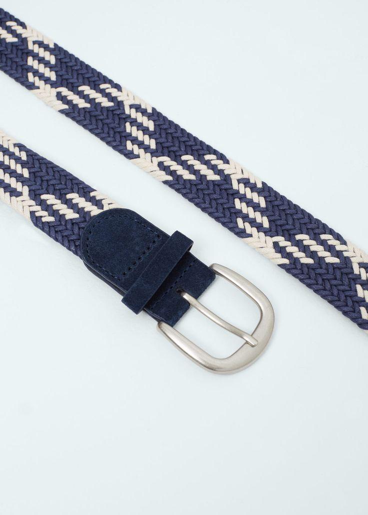 Cinturón trenzado - Hombre | MANGO Man España