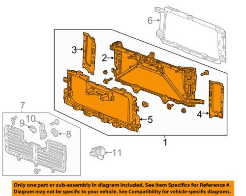 Chevrolet Gm Oem 16 18 Silverado 1500 Front Panel Assembly