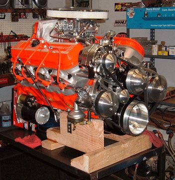 What are the specifications for a Chevy 454 engine?