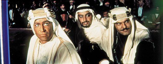 Peter O´Toole, Gamil Ratib y Omar Sharif (Lawrence de Arabia, 1962)