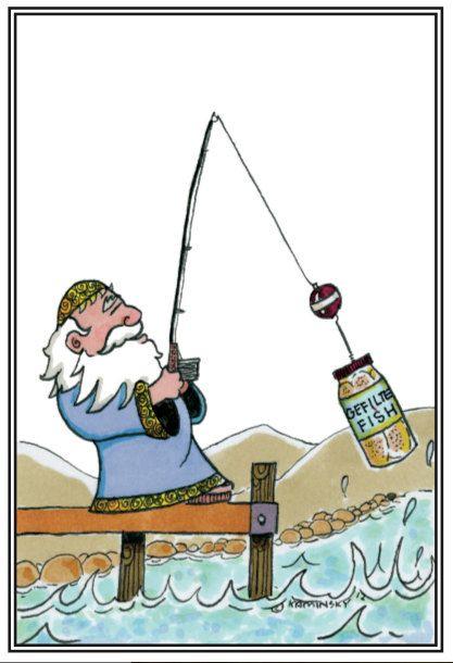 Humorous Jewish Greeting Card. Gone Gefilte Fishing by daydaykay on Etsy https://www.etsy.com/listing/204793415/humorous-jewish-greeting-card-gone