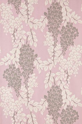 Farrow and Ball wallpaper #2209 Wisteria - so pretty for an accent wall in a soft pink, luscious design.