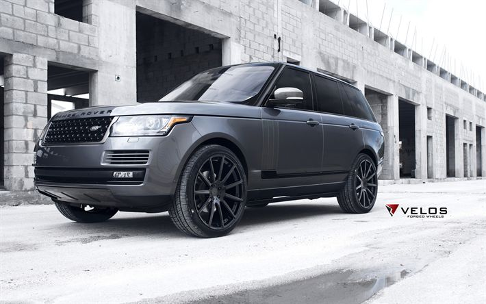 Download wallpapers Velos Wheels, tuning, Range Rover Vogue, 2017 cars, Velos S2, SUVs, Range Rover
