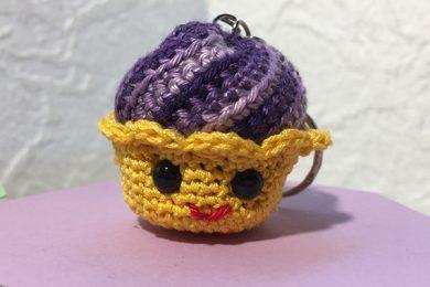Simpatico Cupcake realizzato all'uncinetto