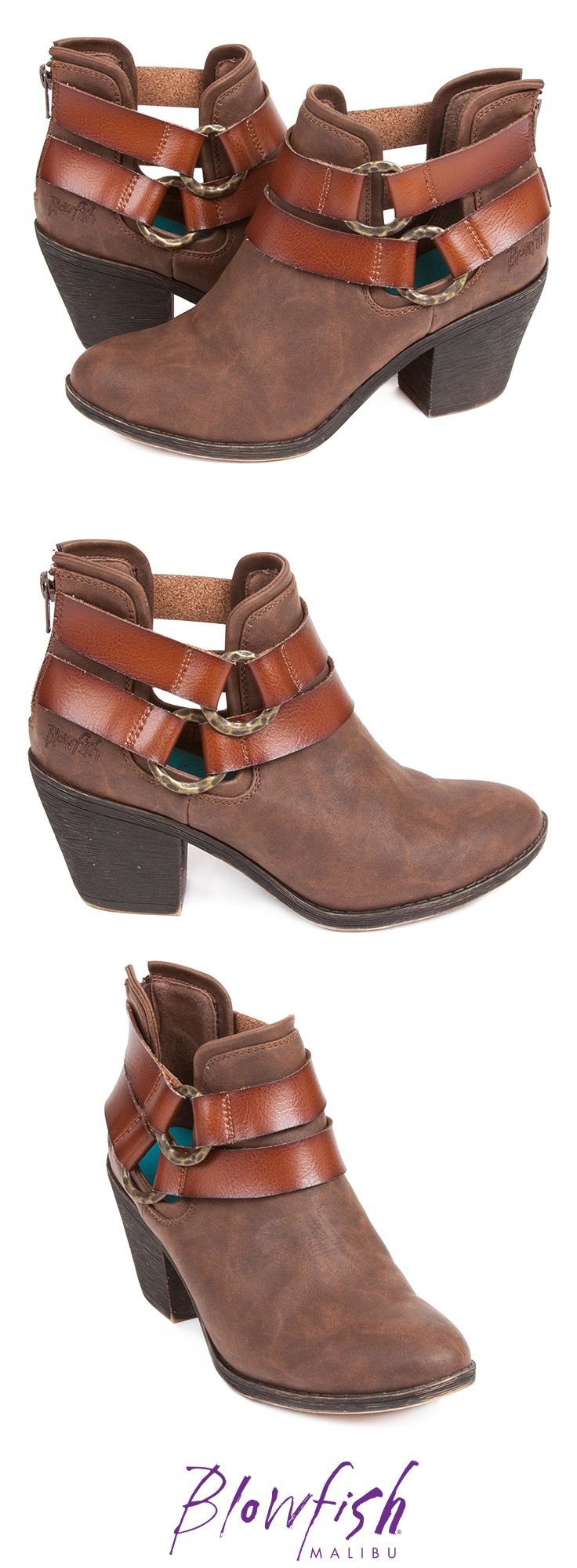 Strut into spring with Blowfish Shoes newest ankle bootie. Sucraa has  rustic, yet chic