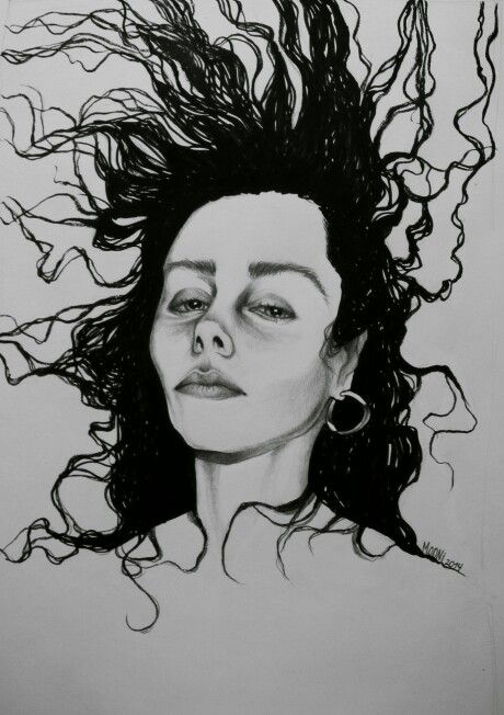 Portrait PJ Harvey / ilustración tinta y grafito #ink #pjharvey #singer #graphite