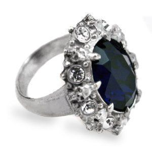 gothic wedding rings engagement alchemy gothic blue crystal ring diamond engagement - Goth Wedding Rings