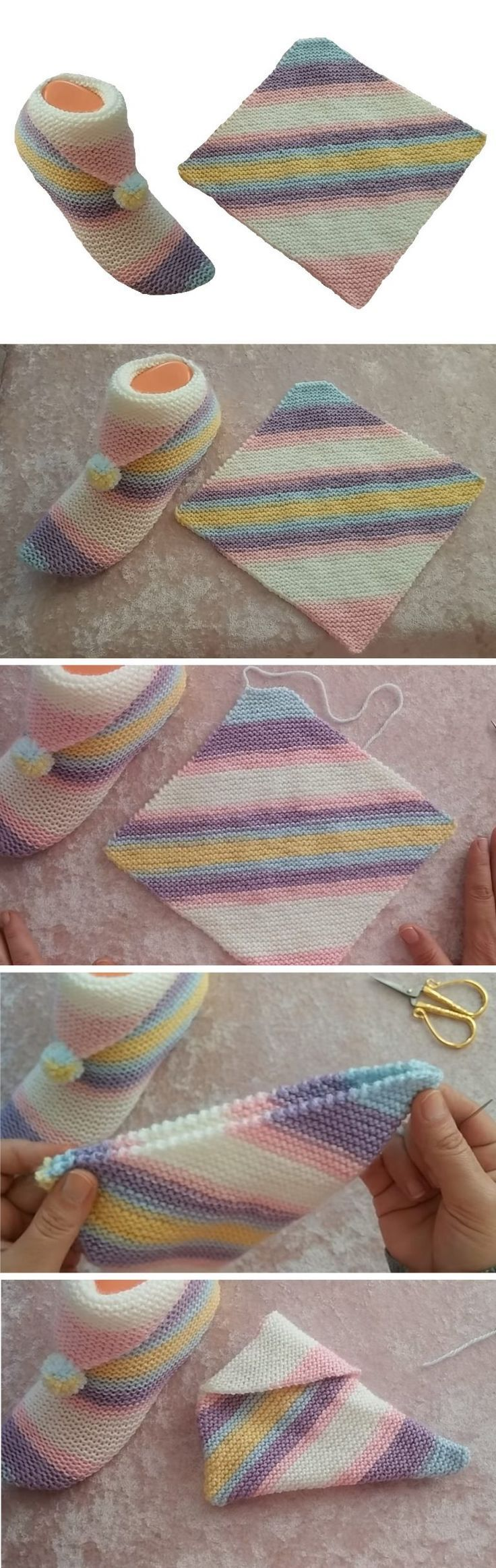 Simple Step by Step Slippers Tutorial – #ideen #si…