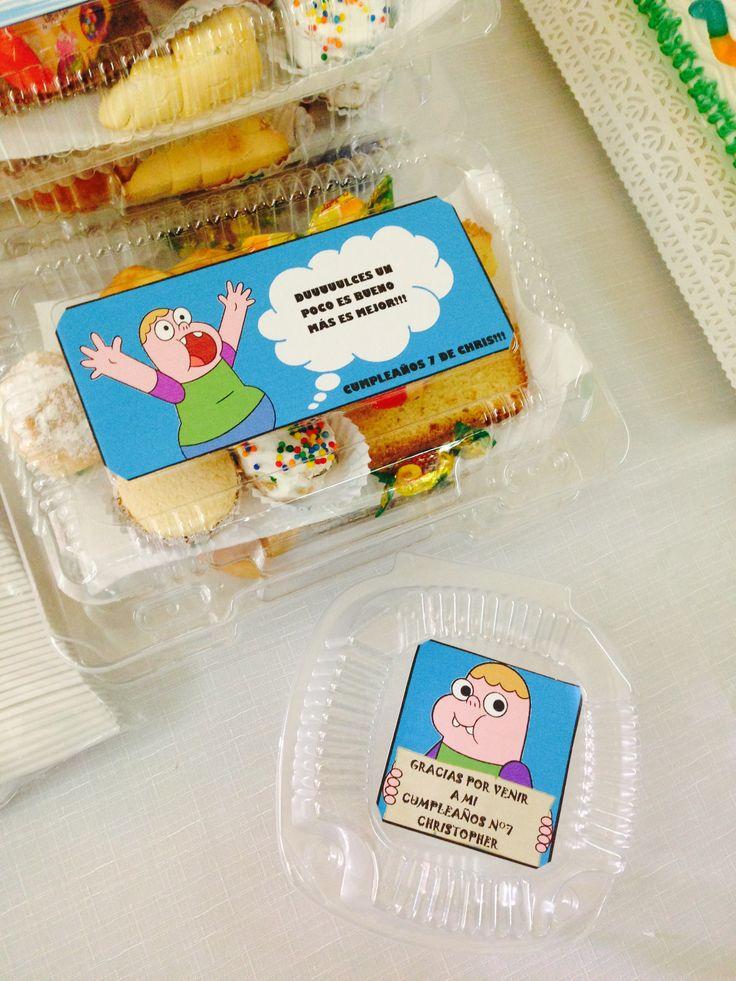 Cajitas con stickers, hechos por mi! Para el cumple de mi Chris!