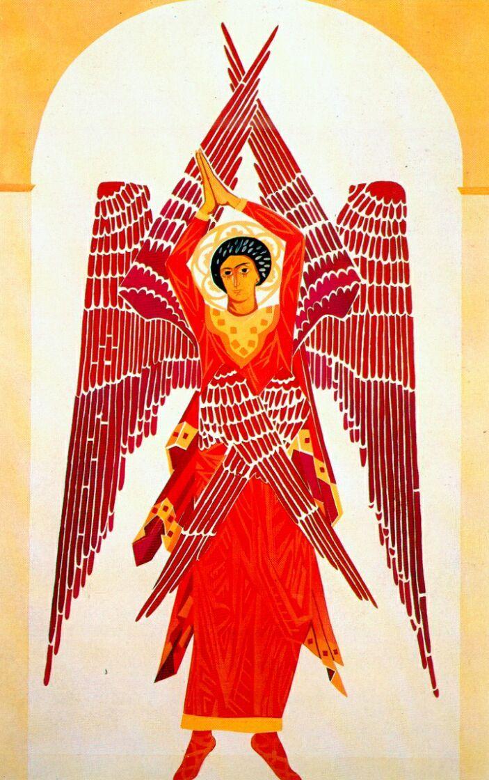 Liturgy six winged Seraph - Natalia Goncharova, 1914