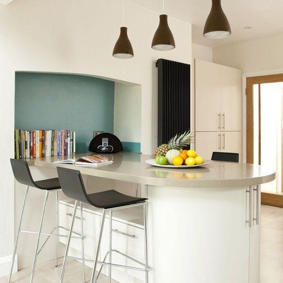 Modern kitchen breakfast bar | Modern kitchens | Breakfast bar ideas | Housetohome