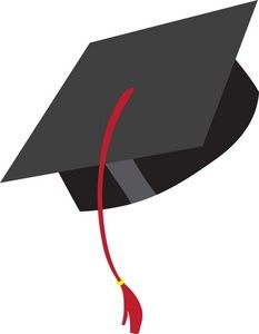 57 Awesome black graduation cap clipart