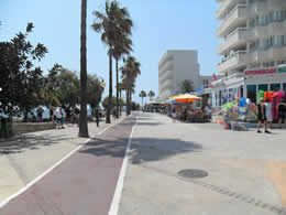 Ride the cycle track from Cala Bona to San Servera in Mallorca