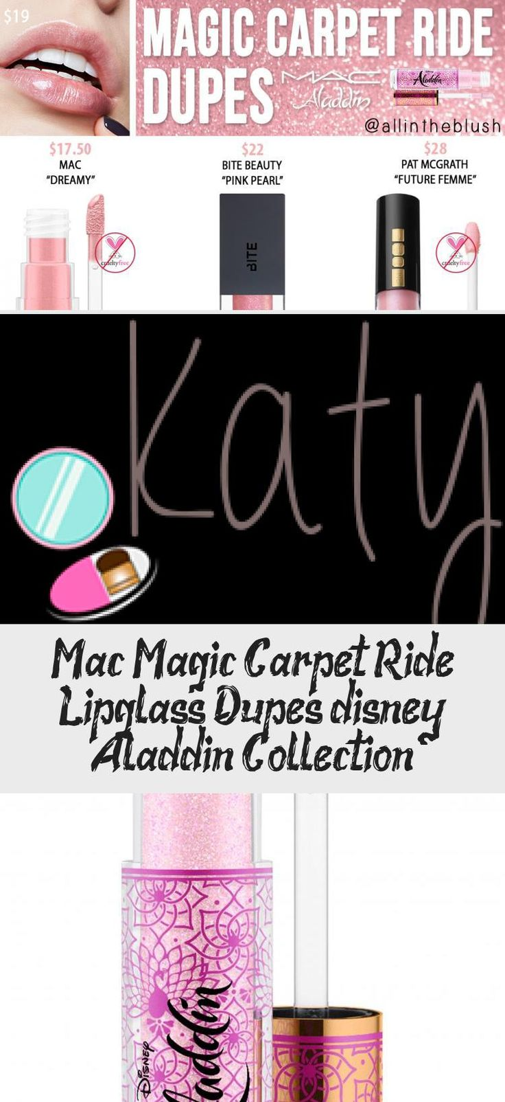 Mac Magic Carpet Ride Lipglass Dupes [disney Aladdin