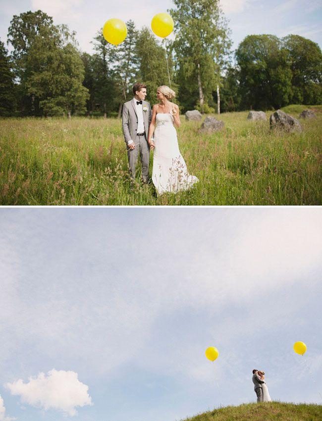 Gorgeous, especially the bottom one. I love wedding balloon photos