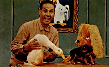 Ray Raynor, Chalveston the Duck and Cuddly Duddly the Dog. WGN Channel Nine