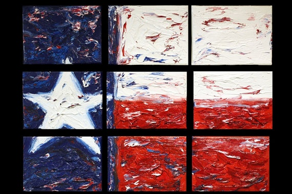Little Bit of Texas Set of 9 8x6 Giclees based on Original Oil on Canvas Paintings by HanhGallery Houston, TX $150