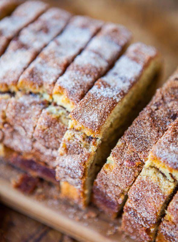 Cinnamon-Sugar Crust Cinnamon-Ribbon Bread - Fast, Moist, Easy, No-Knead Bread Recipe at averiecooks.com