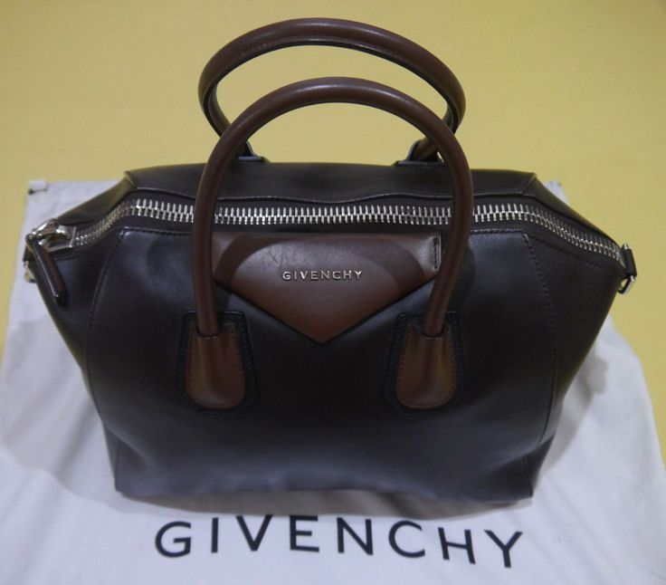 GIVENCHY ANTIGONA 3 Tone Brown Satchel Handbag MADE IN ITALY ~Used Condition~ #Givenchy #Satchel