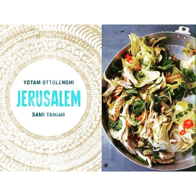 Inspirational book by Israeli chef Yotam Ottolenghi. Can't wait to try the saffron chicken and herbs salad or the stuffed eggplant!  #healthybuttasty #yotamottolenghi