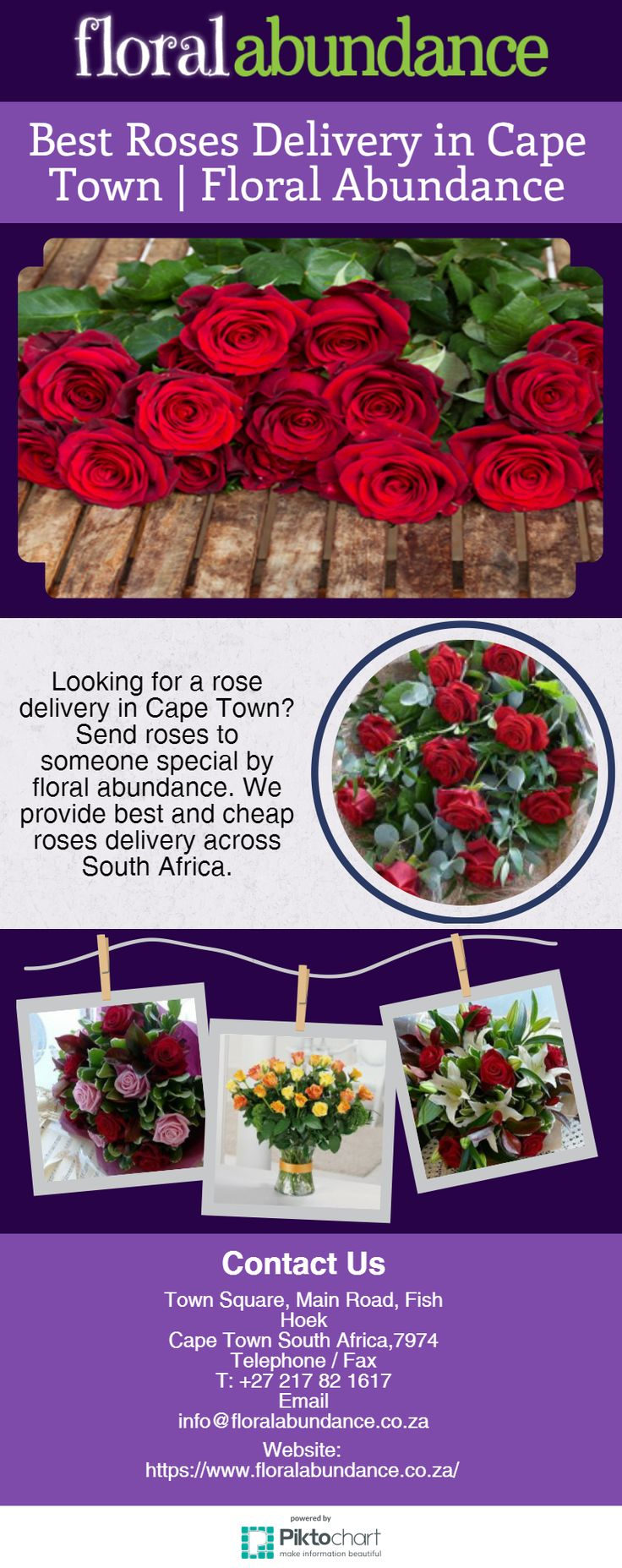 Best Roses Delivery in Cape Town | Floral Abundance  Looking for a rose delivery in Cape Town? Send roses to someone special by floral abundance. We provide best and cheap roses delivery across South Africa. Visit at https://magic.piktochart.com/output/22022870-best-roses-delivery-in-cape-town-floral-abundance