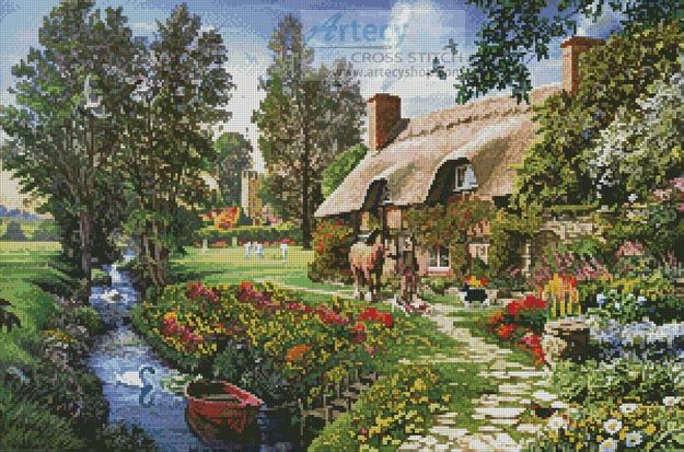 Cricketers Cottage - Cross Stitch Chart - Click Image to Close
