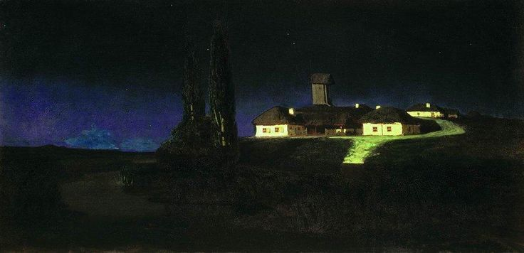 Arkhip Kuindzhi - WikiArt.org..Artist: Completion Date: 1876 Style: Realism Genre: landscape Technique: oil Material: canvas Dimensions: 79 x 162 cm Gallery: Tretyakov Gallery, Moscow, Russia