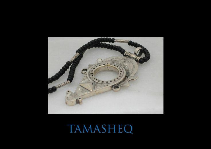 Tuareg Tenfuk pendant, in Tuareg silver mix