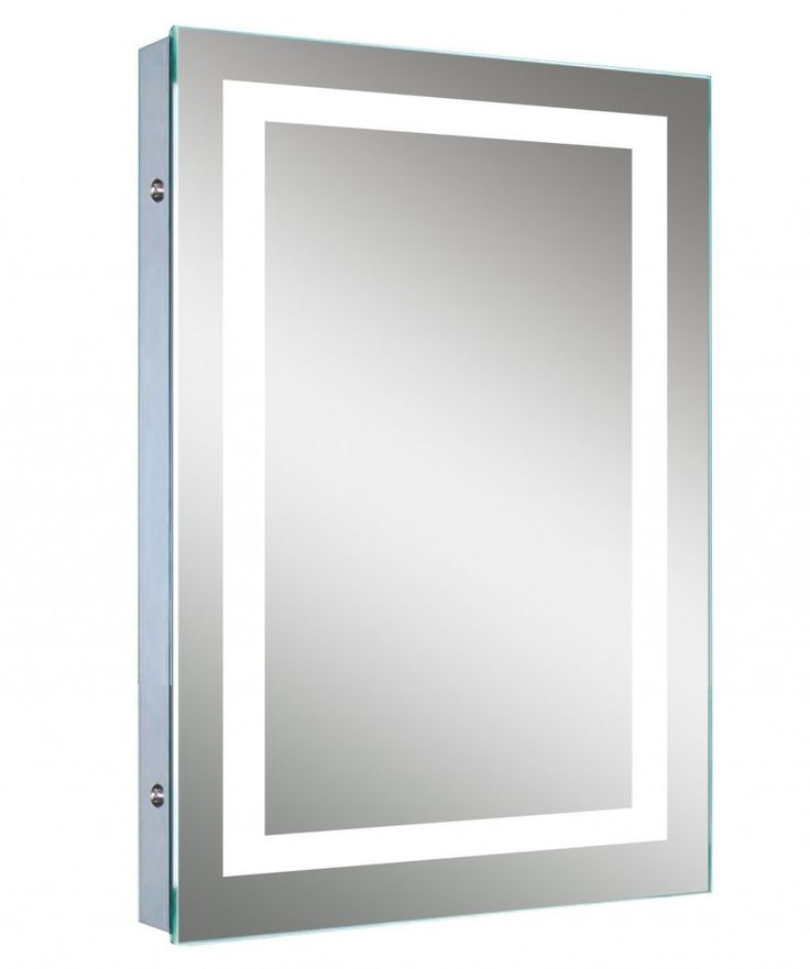 The Art Gallery LED Backlit Mirror with Border Lighted Image presents this simplistic and contemporary illuminated bathroom mirror with a continuous line of white LED us