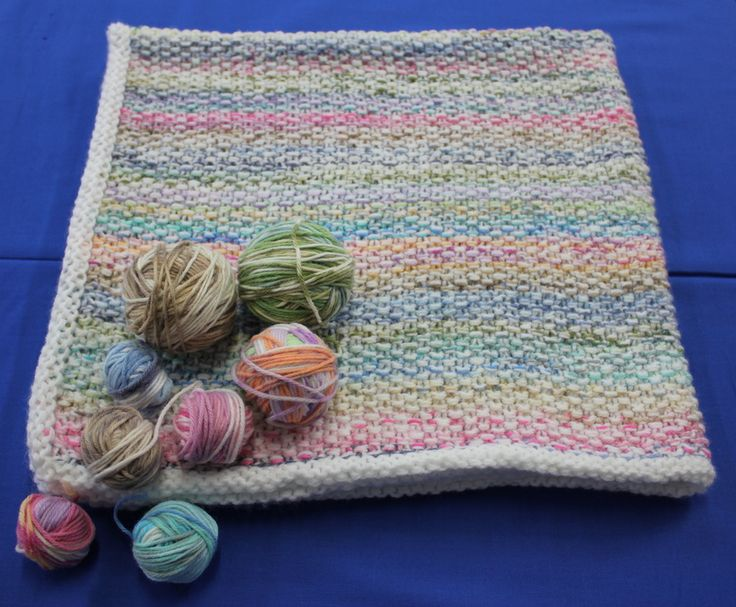 Waste Not Want Not Knitting Pattern Baby Rug