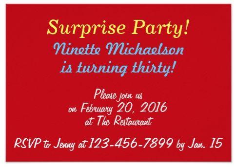 Surprise Dance Party Invite (back)