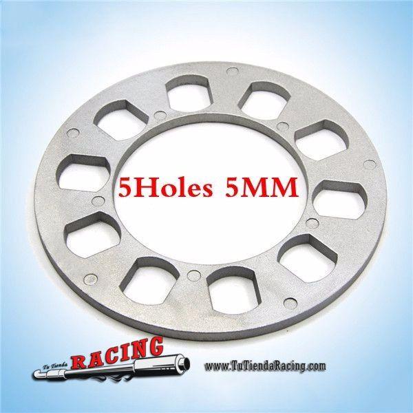 Espaciador de Rueda Coche Universal de Aluminio 5mm Para Neumáticos de 5 Agujeros -- 6,78€ Ruedas y Frenos / Accesorios