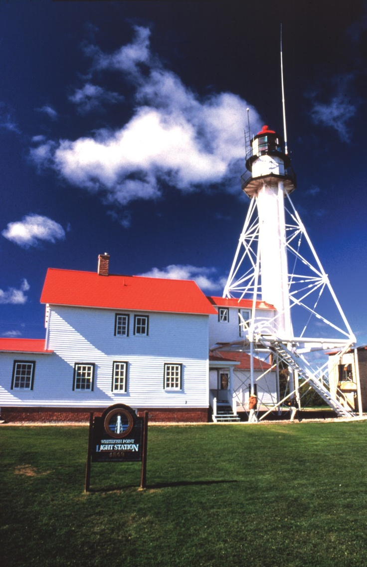 Whitefish Point, Michigan Lighthouse and museum of Great Lakes shipping.