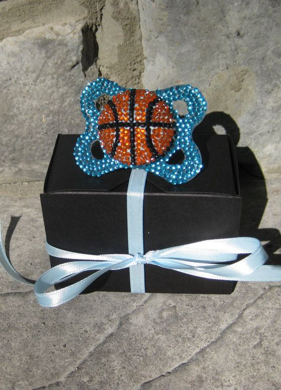 Basketball Bling Pacifier  @Sarah Welling