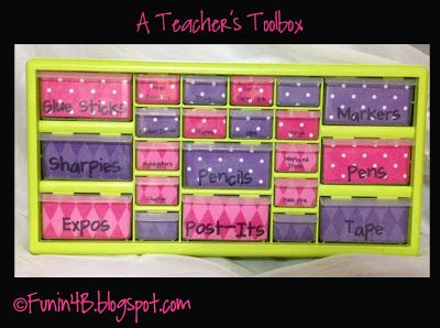 Classroom Freebies Too: Teacher Toolbox Template