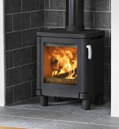 """Guess we aren't the only ones with a """"wood stove alcove"""". How progressive of us!"""