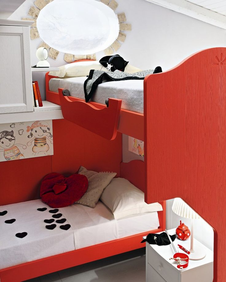Loft wooden teenage bedroom EVERY DAY NIGHT Composition 12 by Callesella Arredamenti