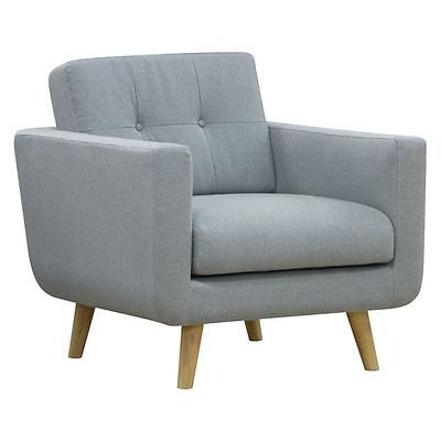 NEW Zanui Larsen Light Grey Armchair