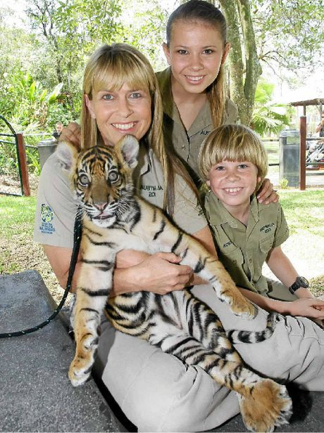 Irwin Family together at Australia Zoo in Queensland, Australia.  v@e.