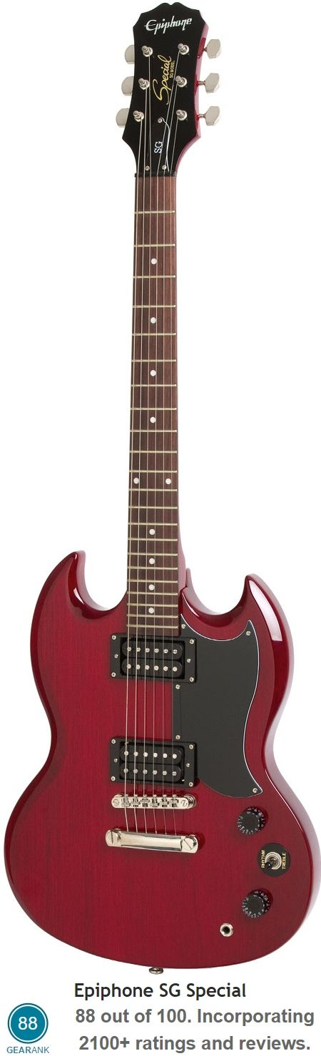 The Epiphone SG Special is the equal 3rd highest rated electric guitar you can buy new for less than $200 - it has a street price of $179.